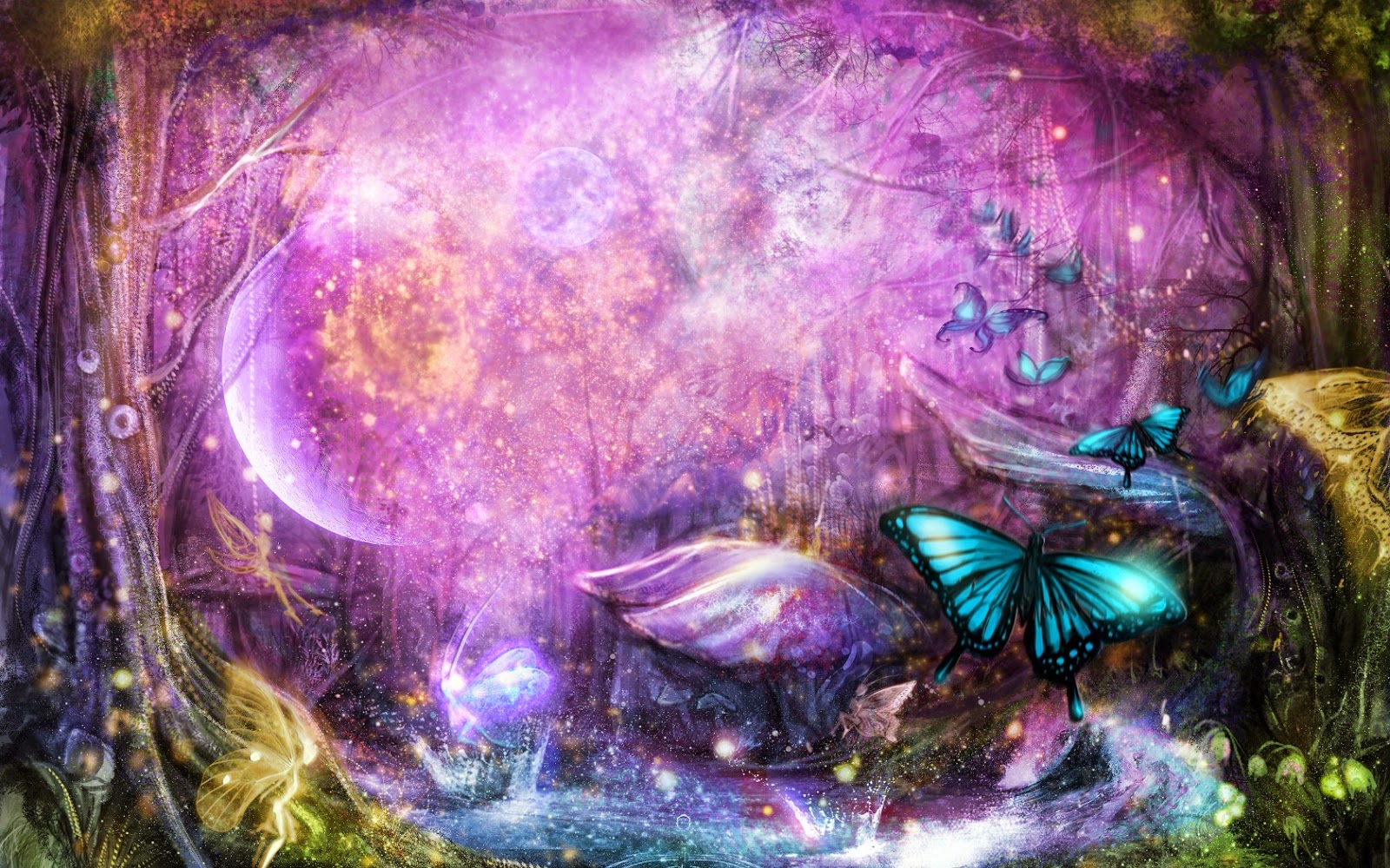 Colorful Butterfly Designs Background For Desktop Abstract