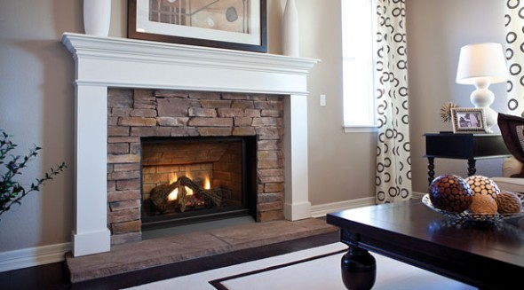 Contemporary Fireplace Hearth Design for Living Room