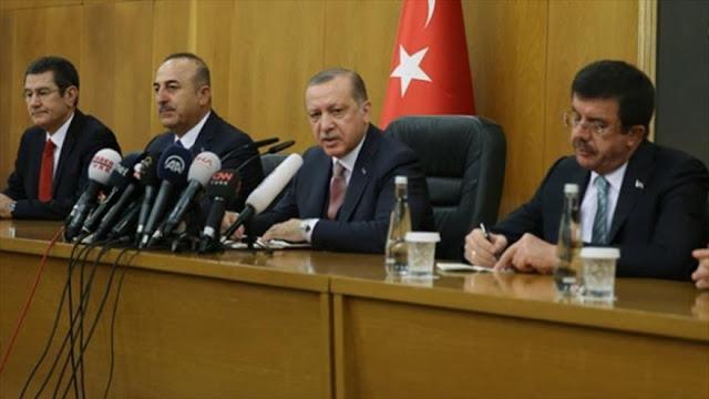 Erdogan denuncia injerencia de EEUU e Israel en asuntos de Irán