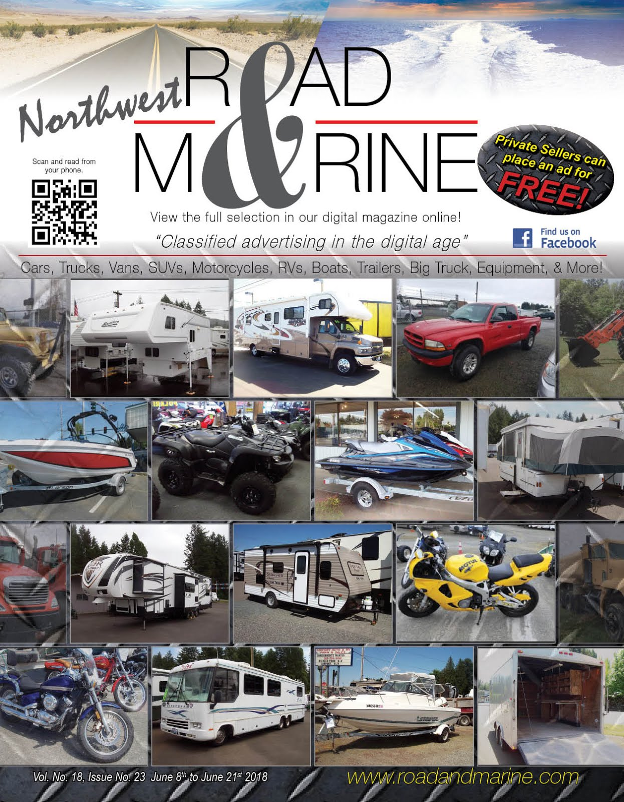 Check Out My Husbands Magazine: NW Road & Marine Glossy & Digital Magazines!!