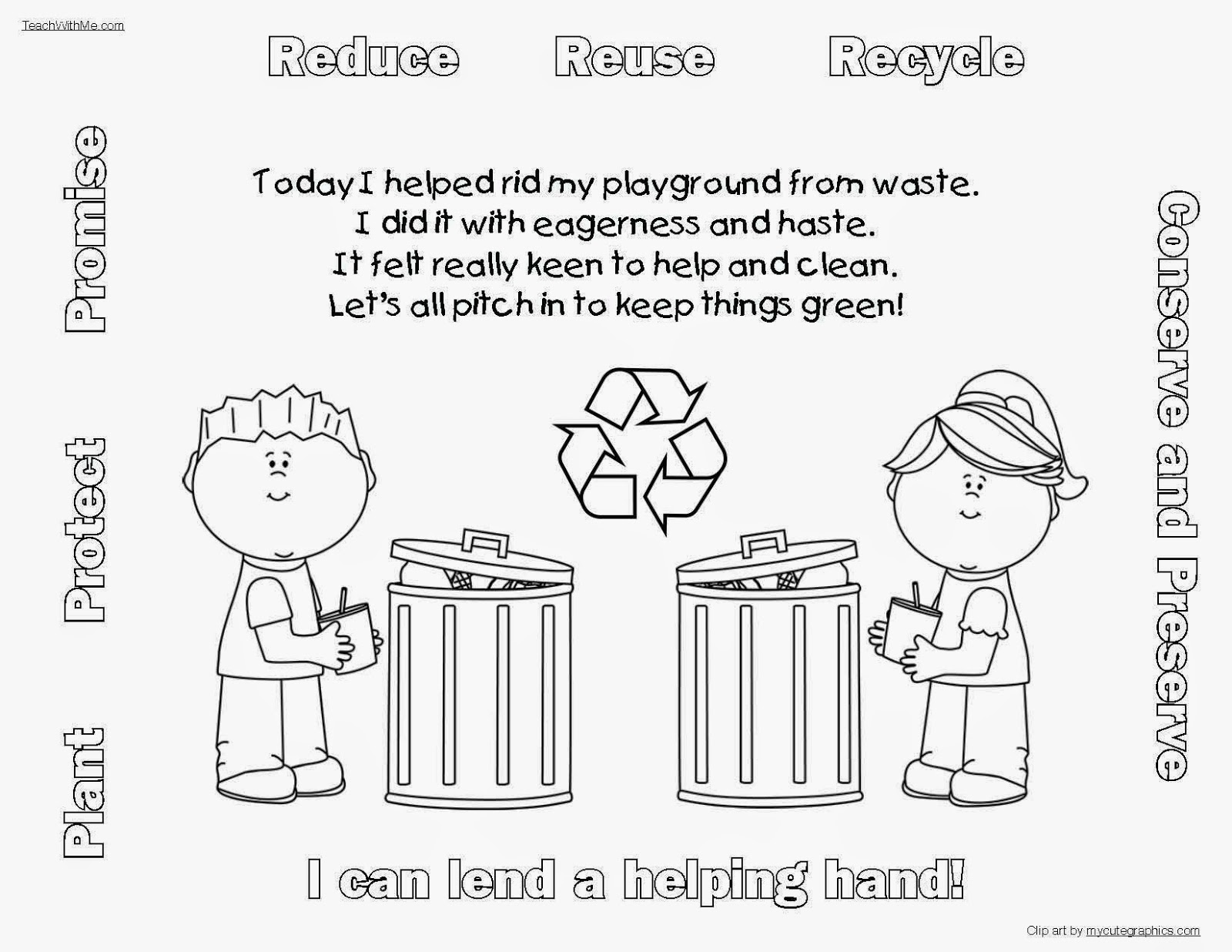 Lend A Helping Hand Earth Day Writing Prompt Craftivity