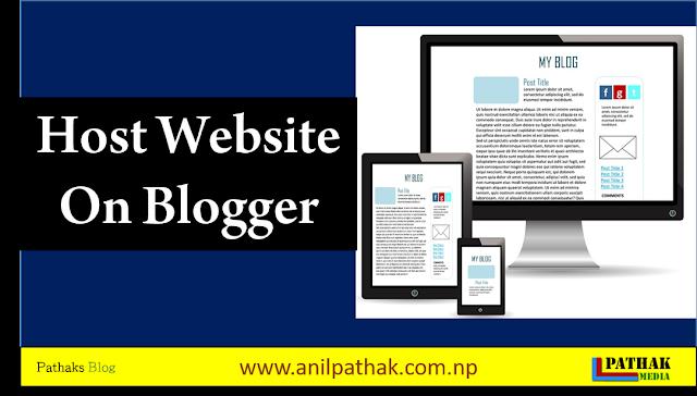 Host Website On Blogger [100%] Working method [Updated]