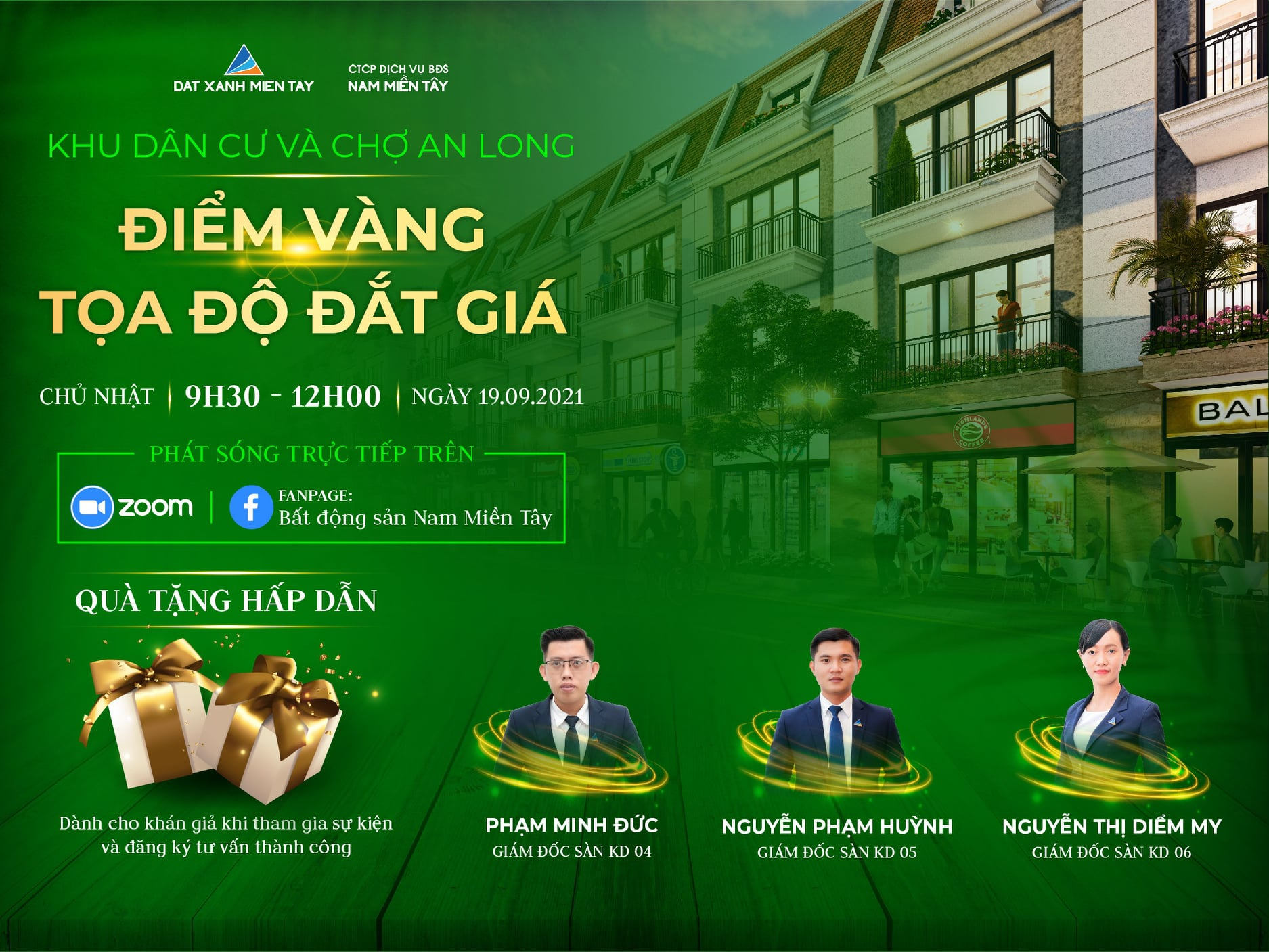 Sự kiện bất động sản trực tuyến khu dân cư và chợ An Long ngày 19-9-2021