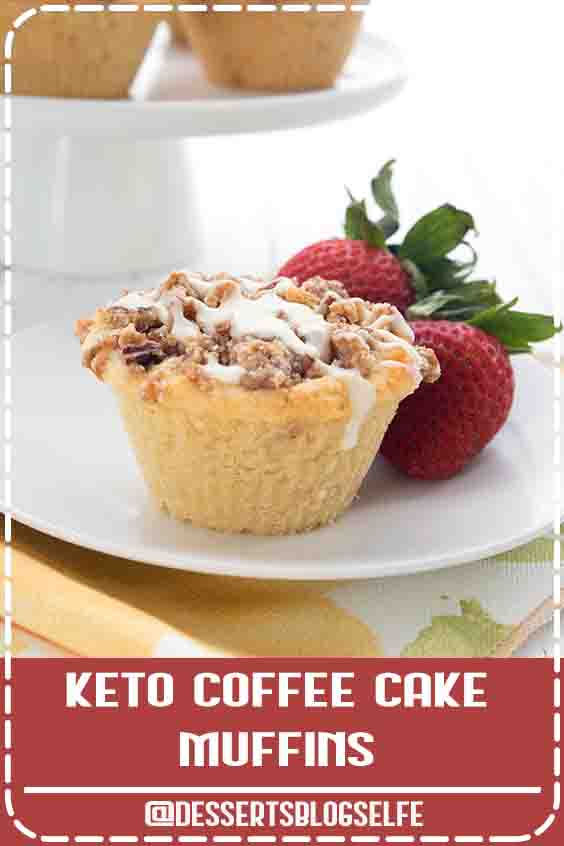 Bakery style almond flour muffins with a cinnamon streusel topping. These keto coffee cake muffins are going to be your new favorite breakfast! Oooh la la! These tender coffee cake muffins are a breakfast favorite. Low carb and sugar-free but they taste like your coffee chop favorite. Easy to make too!#DessertsBlogSelfe #muffins #ketorecipes #coffeecake #sugarfree #almondflour #coconutflour #HealthyDesserts #lowcarb #videos