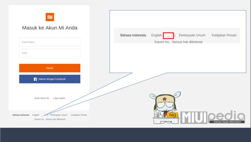 loging menggunakan akun mi yang anda gunakan pada perangkat smartphone XIOMI Anda.