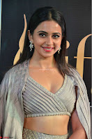 Cute Rakul Preet Singh in Deep Neck Cream Crop top Choli and Ghagra at IIFA Utsavam Awards March 2017  HD Exclusive Pics 01.JPG