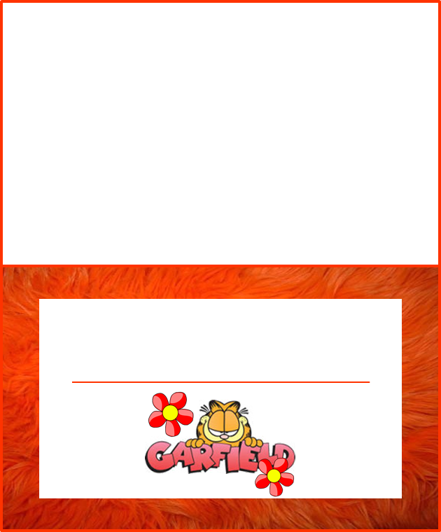 Garfield: Mini Kit para Imprimir Gratis.