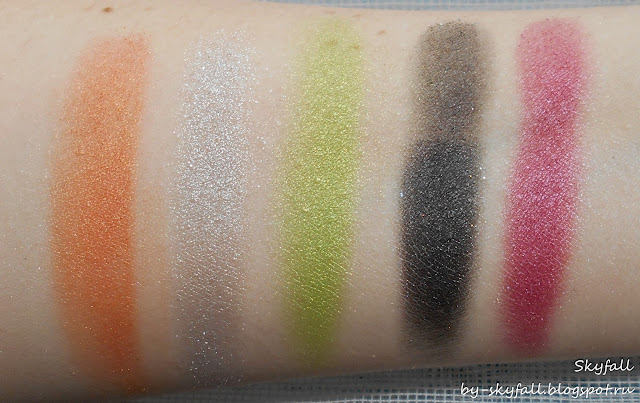 тени NYX AVANT POP! Shadow Palette ART THROB, свотчи