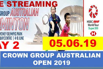 Badminton Live Streaming AUSTRALIAN OPEN 2019 #Day 2