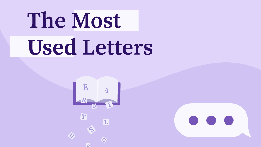 An image with the title The Most Used Letters