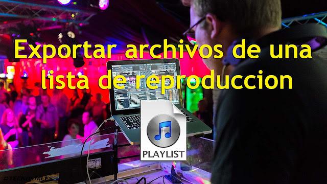 exportar archivos de una playlist con amok
