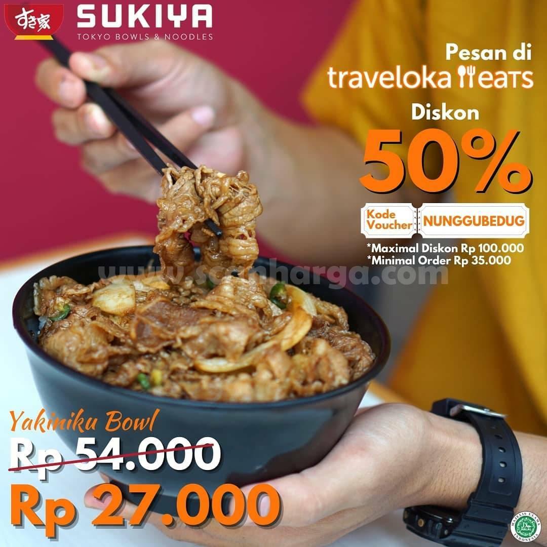 Promo SUKIYA DISKON 50% via Traveloka Eats
