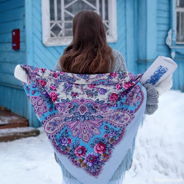 павловопосадский платок как носить
