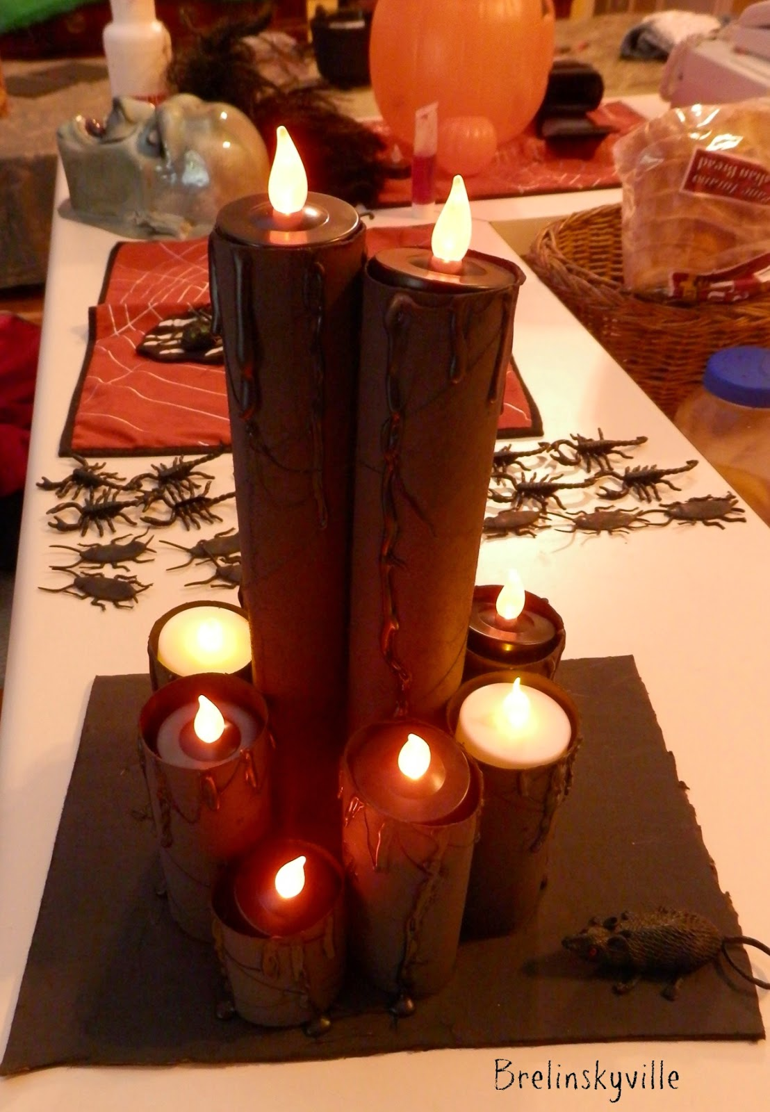 paper towel roll candles