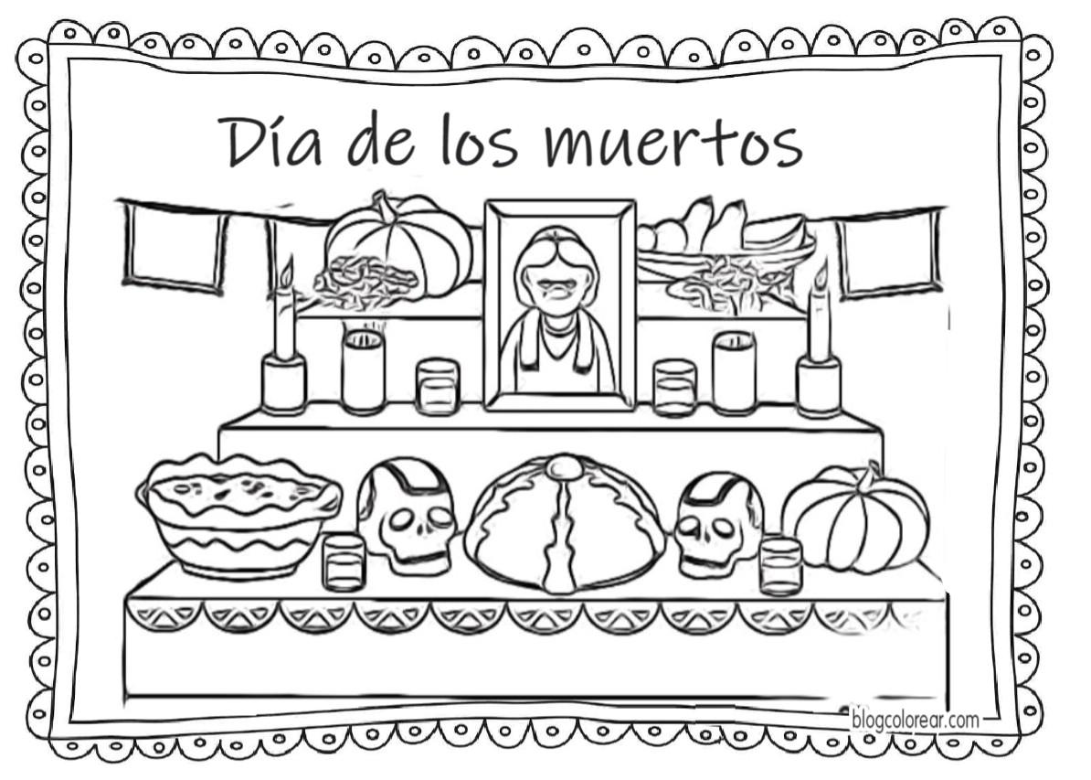 Dibujos Para Colorear Día De Los Muertos Colorear Dibujos