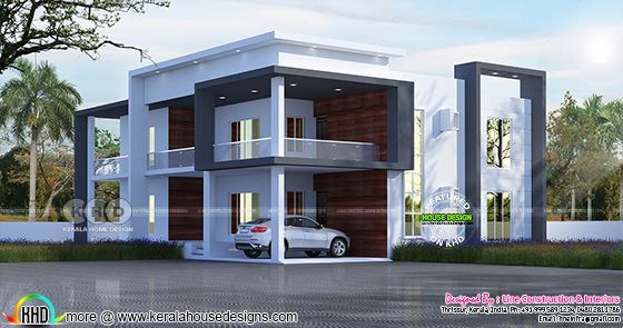 4596 square feet flat roof 6 BHK home