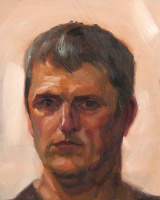 Self Portrait after Mirror Image - Oil on Panel - 25cm x 20cm