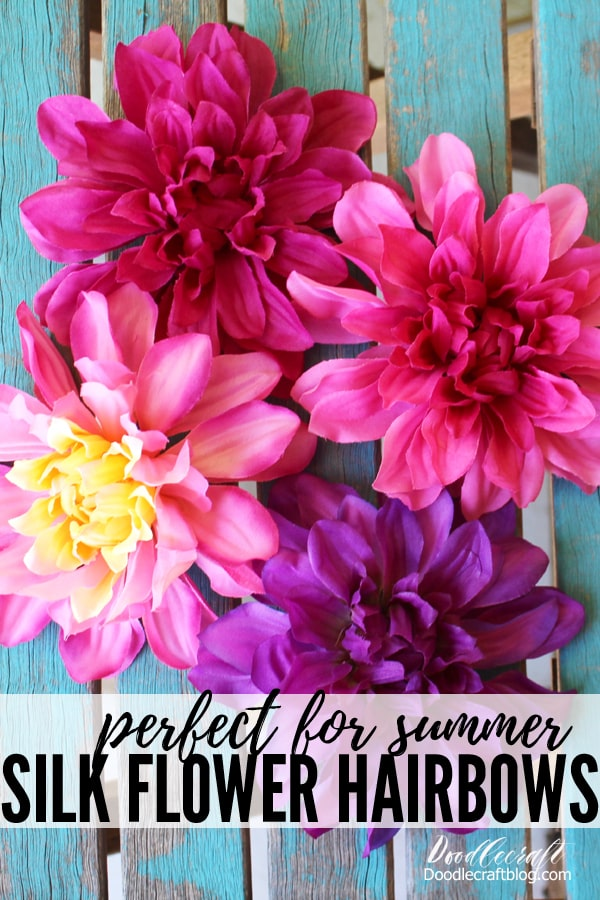 Silk Flower Hair Clip DIY Perfect for Summer!