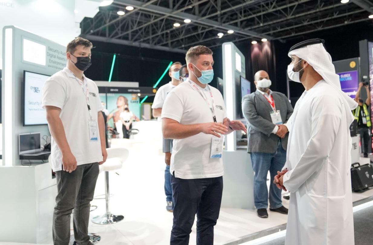 منصور بن محمد يفتتح أعمال معرض ومؤتمر الخليج لأمن المعلومات بدبي