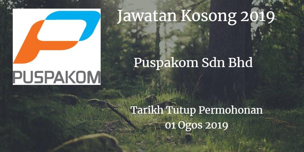 Jawatan Kosong Puspakom Sdn Bhd 01 August 2019
