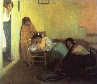 Imagen del óleo Vividoras del amor, Julio Romero de Torres (1906)