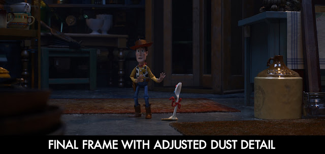 Toy Story 4 Woody and Forky Dust Details