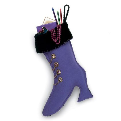 Fancy Boot Christmas Stocking Craft