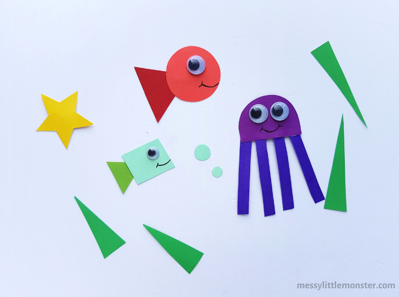 under the sea shape craft for preschoolers
