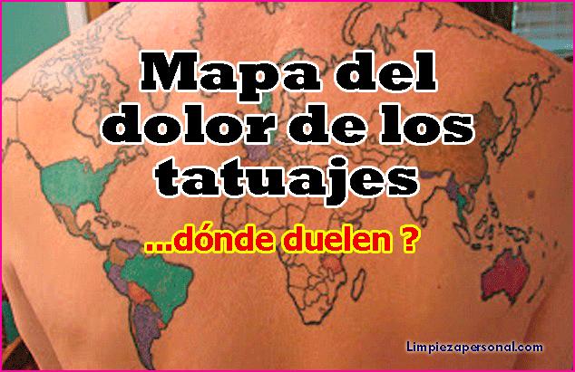 Mapa Del Dolor De Los Tatuajes Limpieza E Higiene Personal