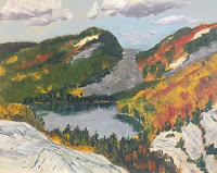 My painting of Carmichael (Nellie) Lake