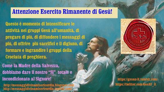 ★┊☆┊★ Attenzione Esercito Rimanente di Gesù!