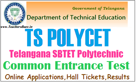 TS POLYCET   SBTET TS polytechnic Entrance Test 2018 Notification, Online Applications