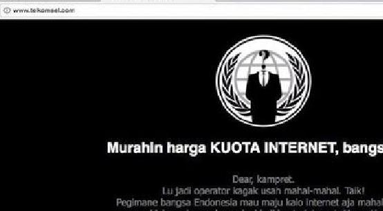Telkomsel Diretas Hacker Menjadi F Ck Telkomnyet Hacker Murahin