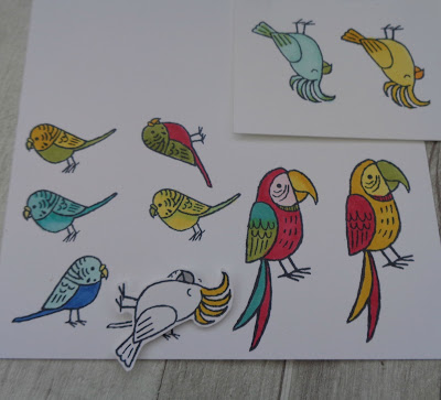 #stampinupuk, #lovemyjob, Craftyduckydoodah!, Bird Banter, Coffee & Cards project April 2018, Supplies available 24/7 from my online store,