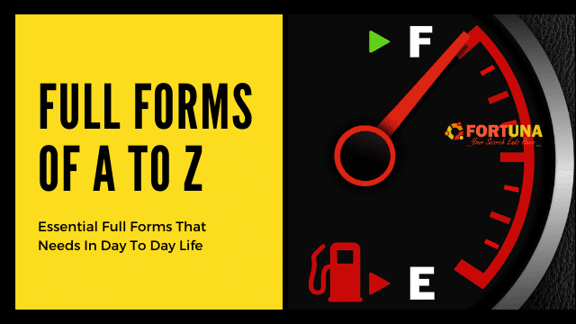 Full Forms A To Z
