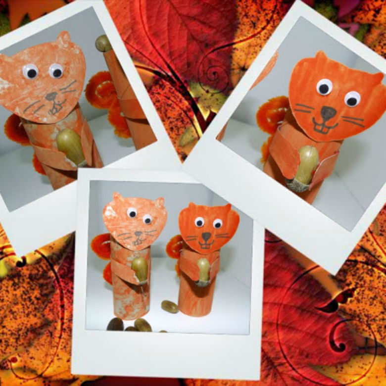 squirrel craft for preschoolers