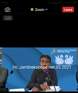 Pertumbuhan Ekonomi Provinsi Jambi Triwulan I-2021 Terkontraksi 0,33 persen