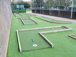 Crazy Golf in Chiswick, London