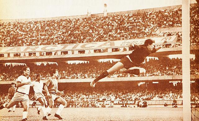 Brasil y Chile en partido amistoso, 15 de mayo de 1966