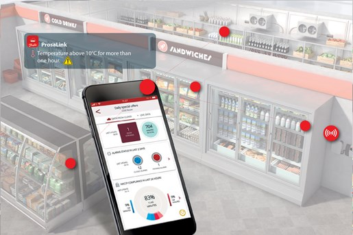 Danfor have Prosa IoT solutions for Simple app-based in food store