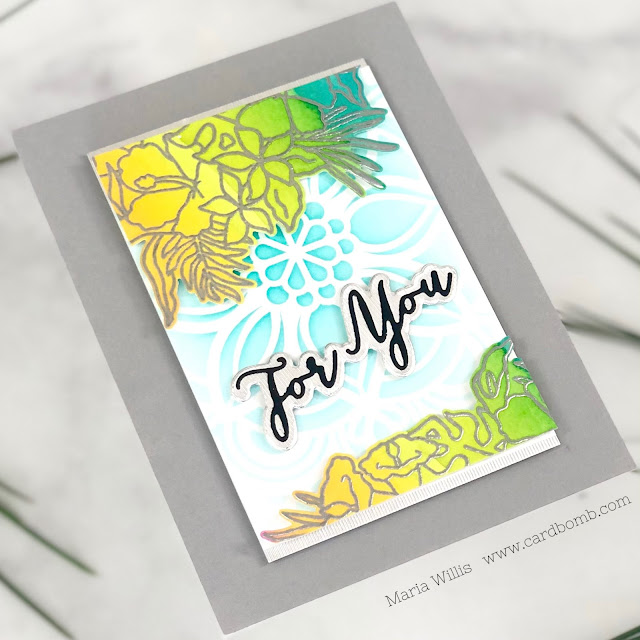 video tutorial, art, cards, color,  ink, #tonicstudiosusa, stamping, video, watercolor, paper, diy, Tonic Studios, #tonicstudios, #tonicstudiosstampclub, Happy Hibiscus, handmade, stamps, card making, paper craft,