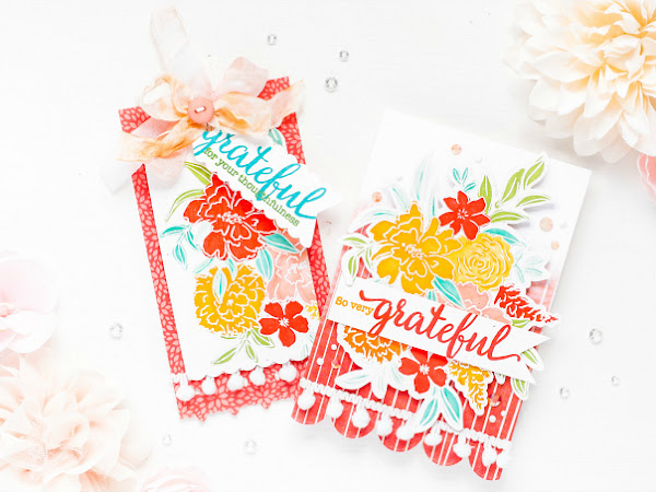 Cards of Gratitude - Pinkfresh Studio