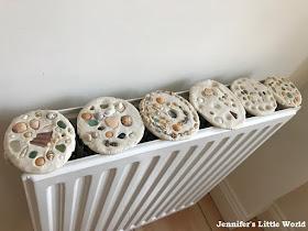 Salt dough drying on the radiator