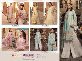 Fepic Rosemeen Luxury Lawn vol 3 pakistani Suits