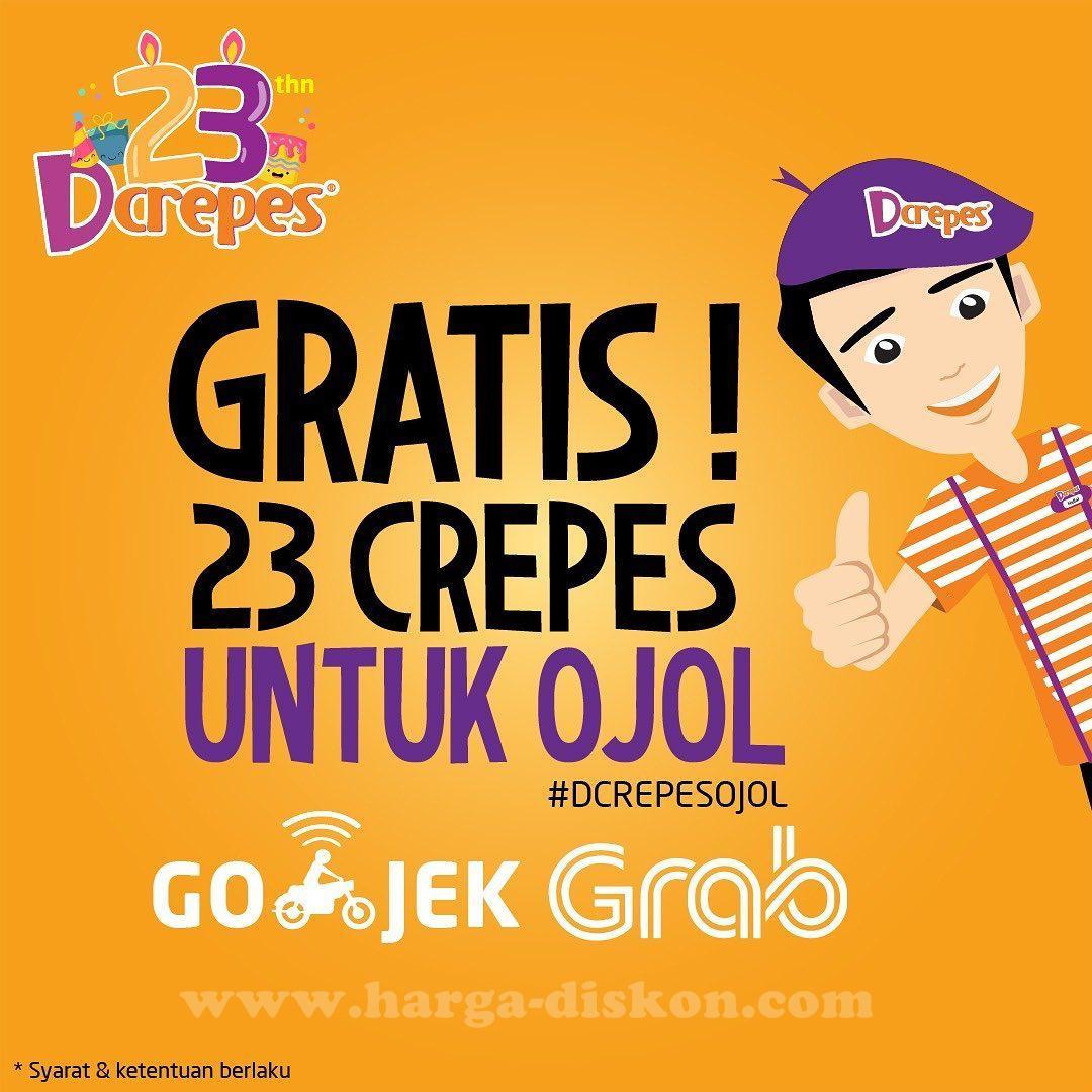 Promo DCREPES Gratis Crepes untuk Sahabat OJOL