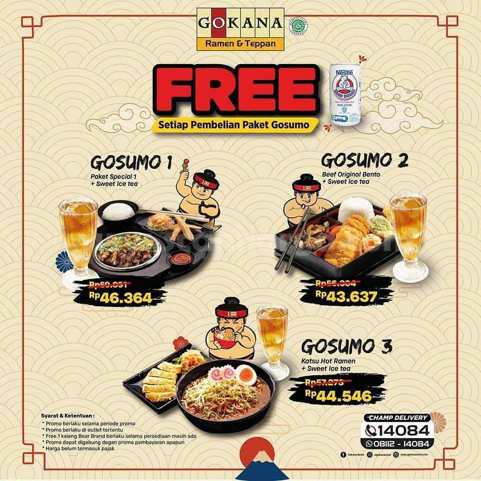 Promo GOKANA Beli PAKET GOSUMO + Gratis Bear Brand mulai Rp 43 Ribuan