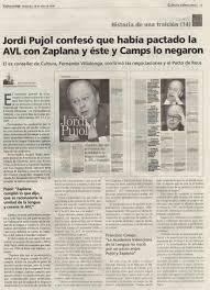 Jordi Pujol, AVL, Zaplana
