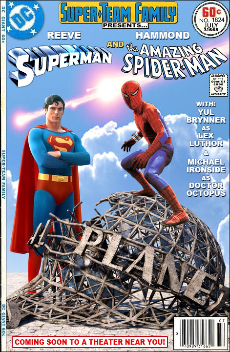 super team family the lost issues superman and spider man the
