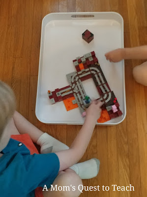 Playing with the Minecraft Lego Nether Railway