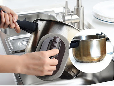 How to clean stain from Pots gas oven